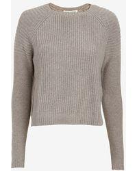 Autumn Cashmere Crop Moto Sweater - Lyst