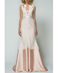 Bibhu Mohapatra | Blush Lace Gown | Lyst