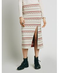 Free People Nordic Stripe Sweater Pencil - Lyst