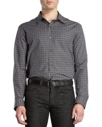 Michael Kors Check Short Sleeve Shirt - Lyst
