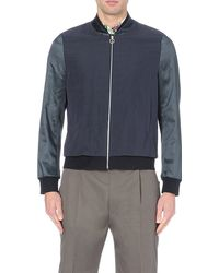 Paul Smith Satin-sleeve Bomber Jacket - For Men - Lyst