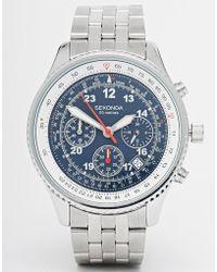 Sekonda Chronograph Stainless Steel Watch 3375.27 - Lyst