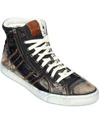 Diesel D-velows Denim High Top Sneakers - Lyst