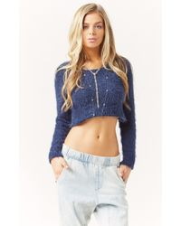For Love And Lemons Ski Bunny Crop Sweater - Lyst