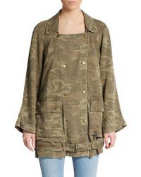Current/Elliott The Infantry Camo-Print Military Jacket - Lyst