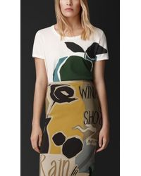 Burberry The Orchard Print Cotton T-Shirt - Lyst