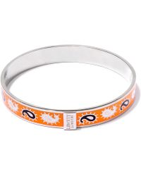 Liberty - Orange Paisley Multicolour Thin Bangle - Lyst