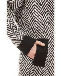 Emanuel Ungaro | Oversized Herringbone Coat | Lyst