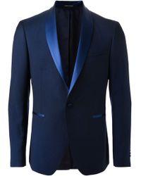 Tagliatore Blue Formal Suit - Lyst