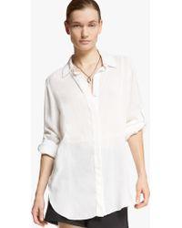Halston Cotton Twill Shirt - Lyst