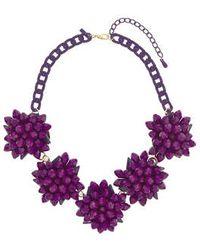 Topshop Purple Flower Collar - Lyst