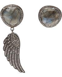 Ocnarf Sairutsa - Diamond and Wing Earring - Lyst