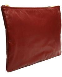 American Apparel - Leather Clutch in Brick - Lyst