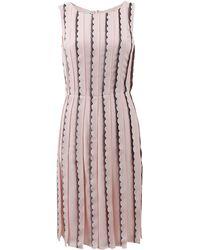 Oscar de la Renta Lace Embroidered Dress - Lyst