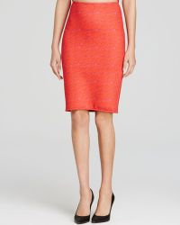 Cynthia Rowley Pencil Skirt - Red Lace - Lyst