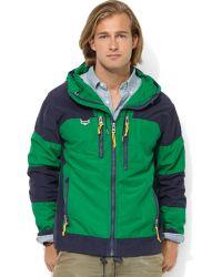 Ralph Lauren Hooded Colorblocked Jacket - Lyst