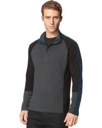 Calvin Klein Sporty Colorblock Quarter Zip Pullover - Lyst