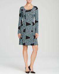 Karen Kane Confetti Geometric Print Dress - Lyst