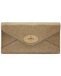 Mulberry Metallic Goat Envelope Long Wallet - Lyst