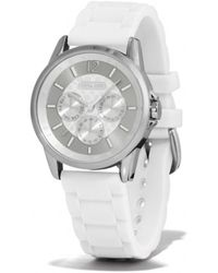 COACH - Classic Signature Sport Stainless Steel Rubber Strap Watch - Lyst