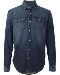 BLK DNM Washed Denim Shirt - Lyst