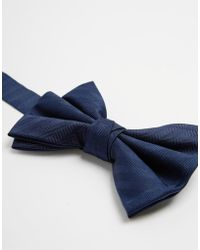 Asos Silk Bow Tie - Lyst