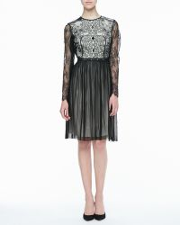 Catherine Deane Maria Lace & Leather Cocktail Dress - Lyst