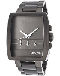 Nixon Mens Axis Chronograph Gunmetal Ip Steel and Dial - Lyst