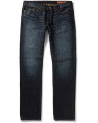 Jean Shop Worn-in Slim-fit Selvedge Jeans - Lyst