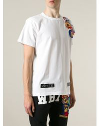 Off-White Patch Detail T-Shirt - Lyst