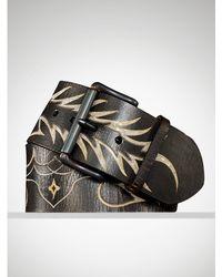 Ralph Lauren Flame Chain Inlay Belt - Lyst