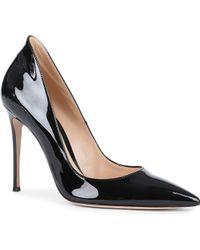 Gianvito Rossi Patent-leather Stiletto Courts - Lyst