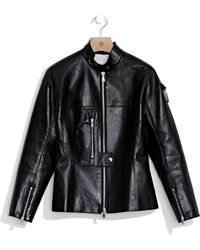 3.1 Phillip Lim | Sculpted Leather Jacket With Flight Details | Lyst