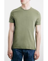 Topman Slim Fit Crewneck T-Shirt green - Lyst