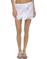 Miguelina Jewel Skirt - Pure White - Lyst