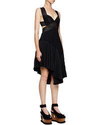 Stella McCartney Asymmetric Cutout Crisscross Dress - Lyst