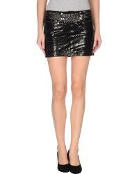 Balmain Leather Skirt - Lyst