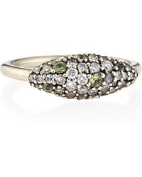 Alexis Bittar Fine | Sterling Silver Gray Diamond & Green Sapphire Marquise Ring | Lyst