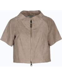 Herno Leather Outerwear - Lyst