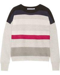 Diane Von Furstenberg Shell Striped Cashmere Sweater - Lyst