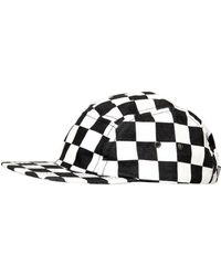 Love Moschino - Checkered Printed Cotton Canvas Hat - Lyst