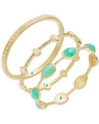 Karen Kane - Stone Bangle Bracelet Set - Lyst