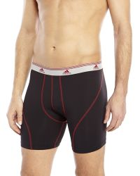 Adidas Black & Red Sport Performance Boxer Briefs - Lyst