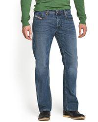 Diesel Mens Zatiny 800z Bootcut Jeans - Lyst