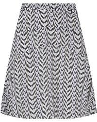 Reiss Christa Printed Silk Skirt - Lyst