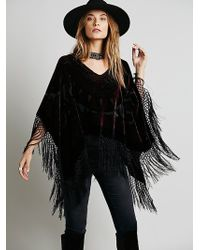 Free People Janis Velvet Pullover Poncho - Lyst