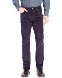 Calvin Klein Navy Corduroy Slim Fit Pants - Lyst