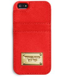 Michael Kors Saffiano Leather Pocket Phone Case For Iphone 5 - Lyst