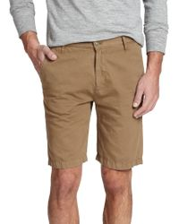7 For All Mankind Cotton-Linen Chino Shorts khaki - Lyst