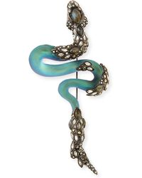Alexis Bittar Crystal Lace Lucite Snake Pin - Lyst